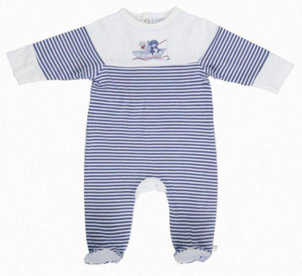 Noukies Pyjama Jersey Rayé Bill et Bono BDM Boy 9 mois