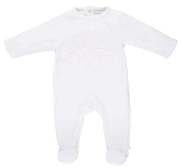 Noukies Pyjama Velours Blanc Chat Iris Cocon Girl - 9 mois