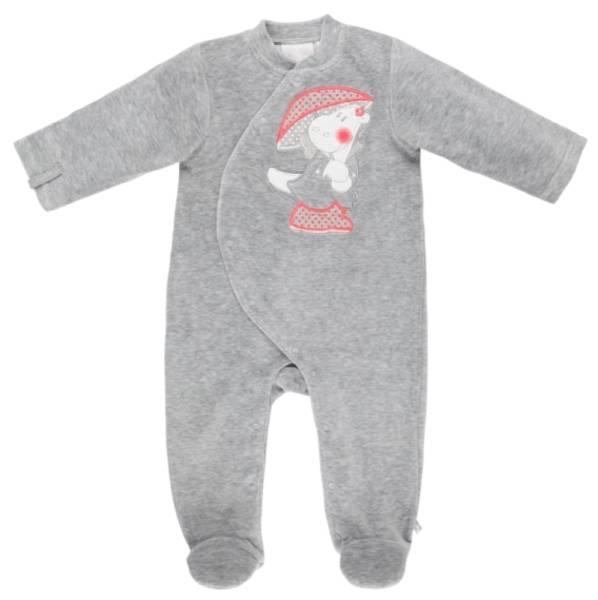Noukies Pyjama Velours Gris Victoria BDM Girl - 6 mois