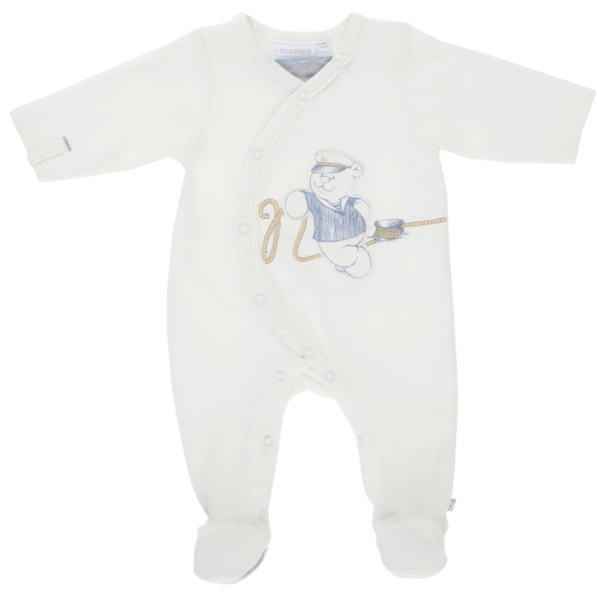 Noukies Pyjama Nouky Velours Blanc