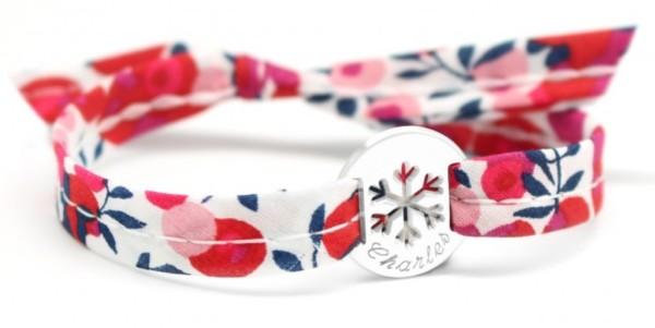 Petits Trésors Bracelet Liberty Ruban Flocon Argent