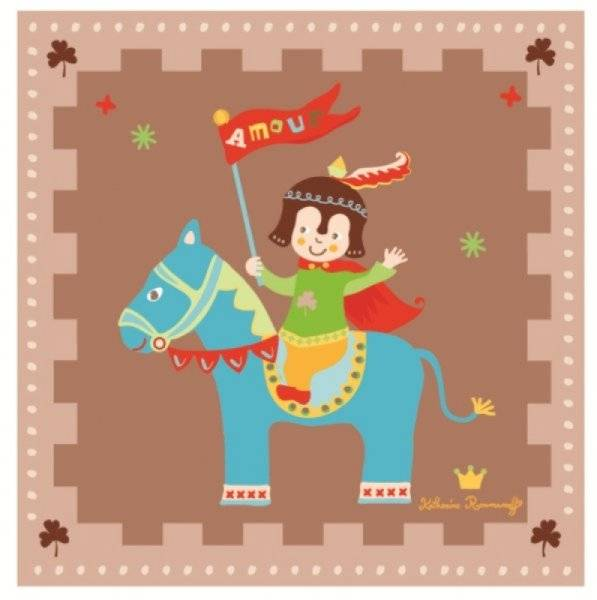 Doudou et compagnie cadre petit indien doudouplanet for Decoration murale katherine roumanoff