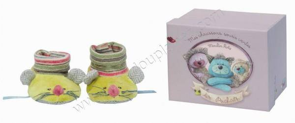 Moulin Roty Chaussons Souris Vertes Les Pachats