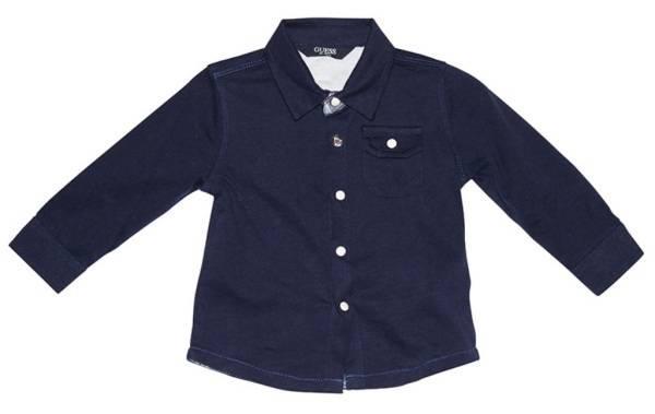 Guess Enfant Chemise Manches Longues Bleu Marine