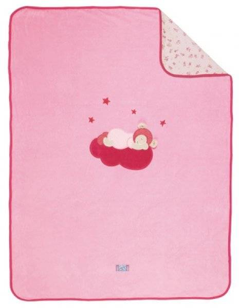 Moulin Roty Couverture Souris Lila - 75x100 cm