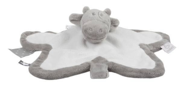 Noukies Doudou Vache Lola Gris Blanc Poudre d'Etoiles