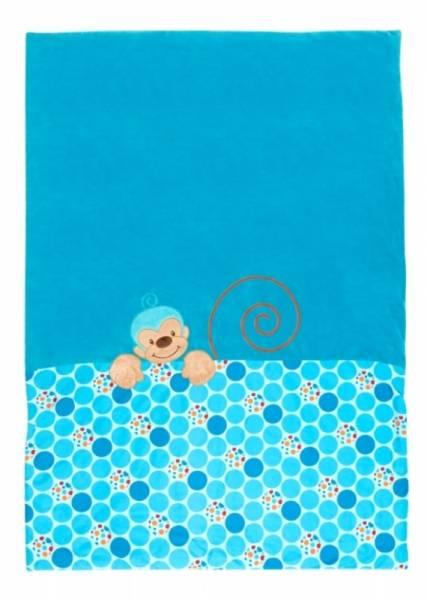 Nattou Edredon Jungle Singe Bleu - 120x85 cm