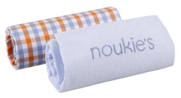 Noukies Lot de 2 Draps Housse William et Henry 60x120 cm