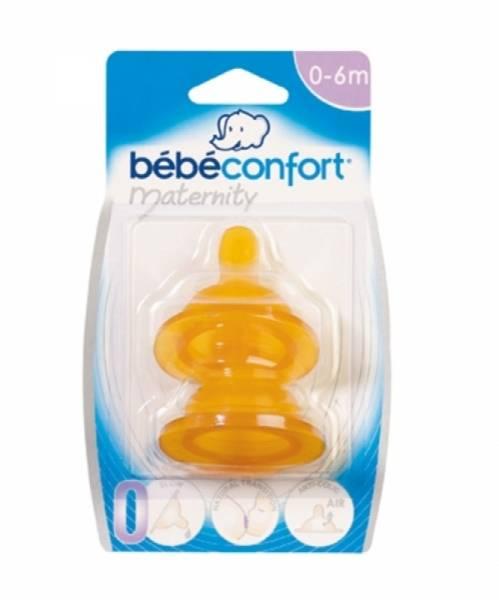 Bébé Confort Lot de 2 Tétines Caoutchouc T0 Transition Maternity