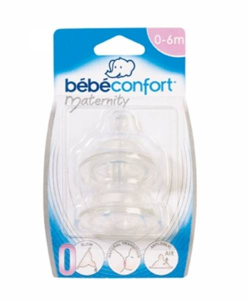 Bébé Confort Lot de 2 Tétines Silicone Maternity T0 Transition