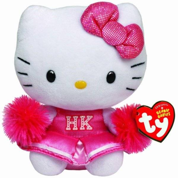Ty Peluche Hello Kitty Cheerleader Beanie Babies - 28 cm
