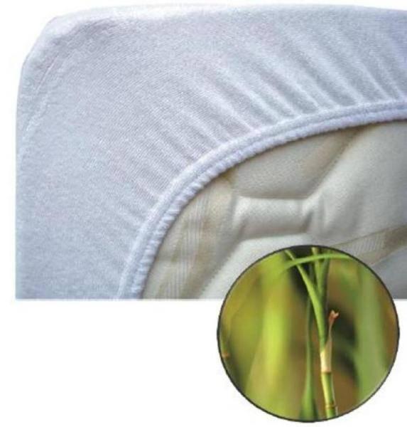 Babysun Nursery Protège Matelas Eponge en Bambou 60x120 cm