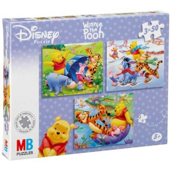 MB Puzzles 3x50 Pièces Winnie l'Ourson