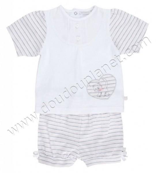Noukies Pyjama 2 Pièces Court Iris 18 mois