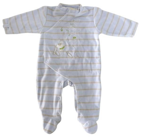 Noukies Pyjama Bleu Rayé Arthur 3 mois