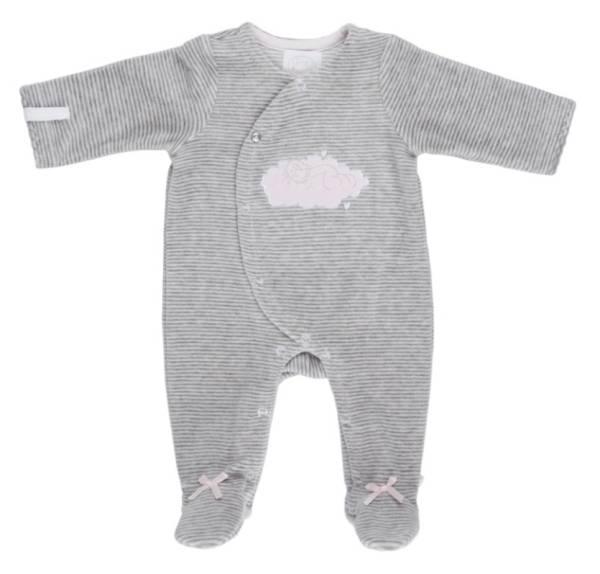 Noukies Pyjama Gris Rayé Lola 12 mois