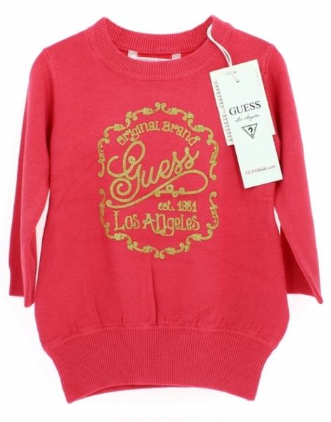 Guess Enfant Robe-Pull Rose 18 mois