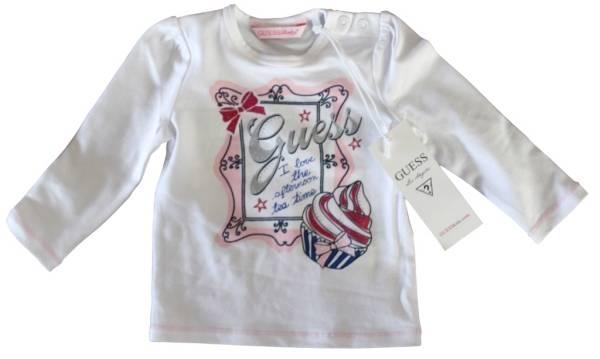 Guess Enfant Tee-Shirt Blanc Fille 12 mois