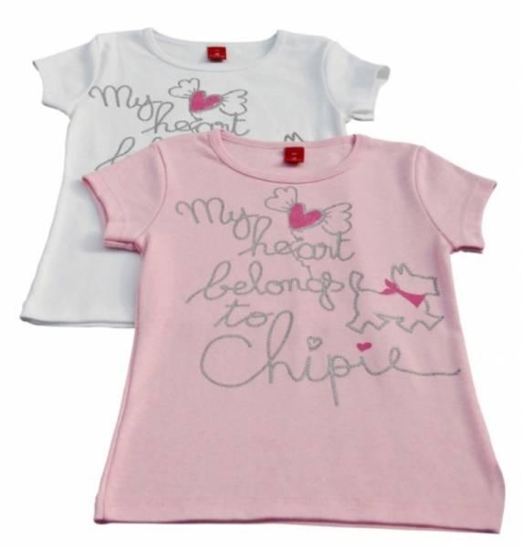 Chipie Tee-Shirt Manches Courtes Basic Rose