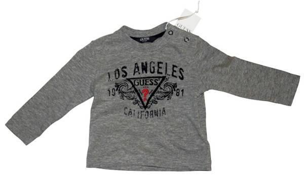 Guess Enfant Tee-Shirt Manches Longues Gris 3/6 mois