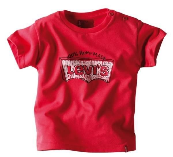 Levis Tee-Shirt Marlon Manches Courtes Rouge 6 Mois