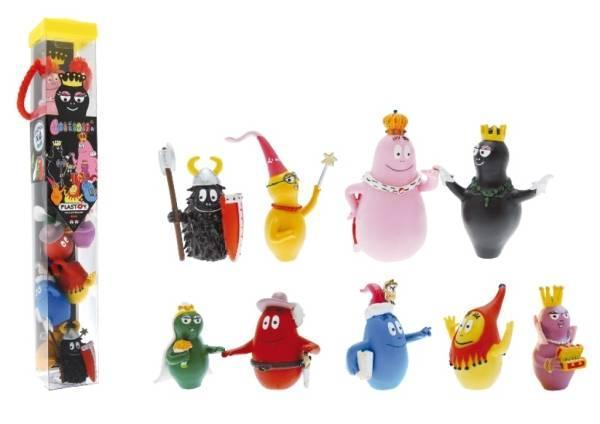 Plastoy Tube Figurines Barbapapa Médiéval