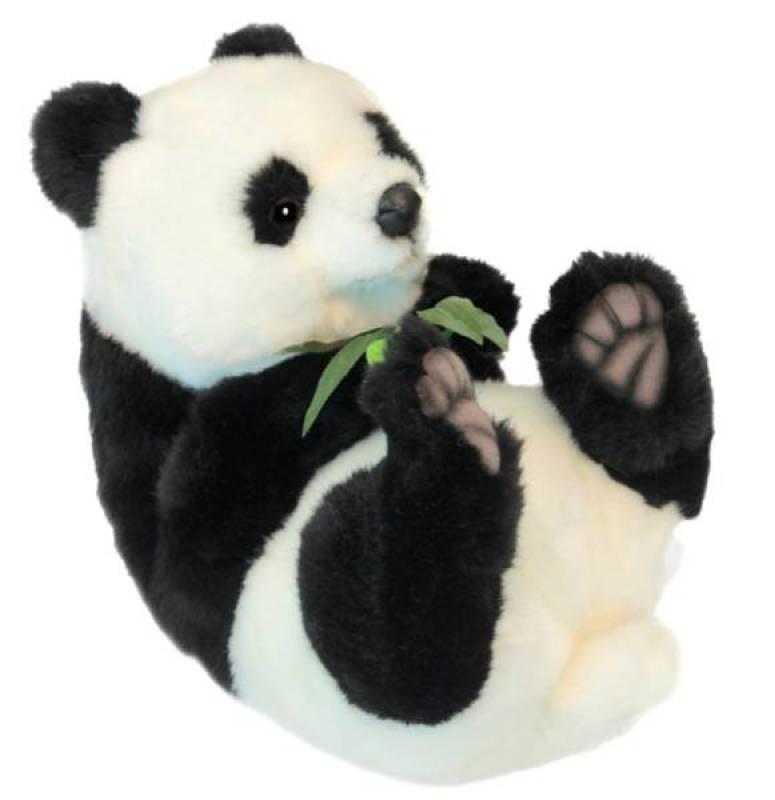 anima peluche panda couch sur le dos 25 cm. Black Bedroom Furniture Sets. Home Design Ideas