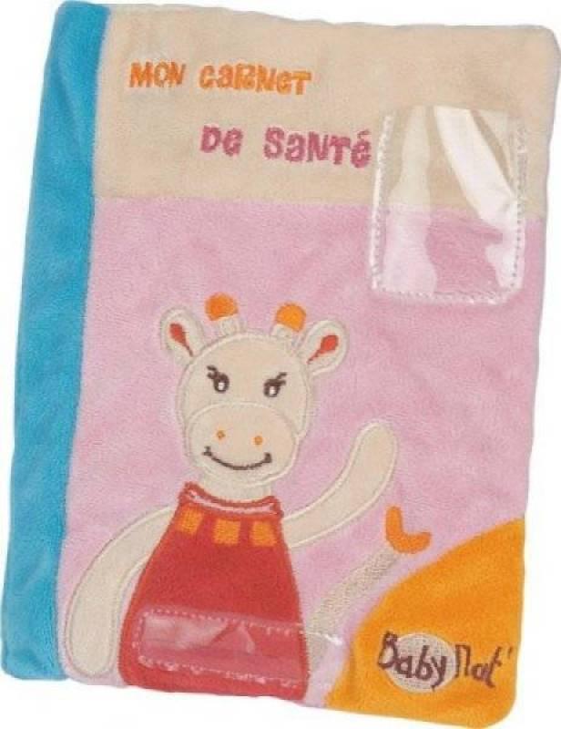 Babynat Protège Carnet de Santé Girafe Maé