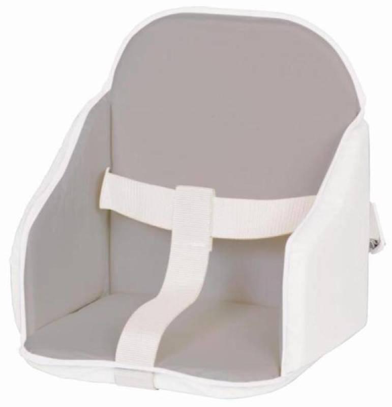 Candide Coussin de Chaise à Sangles Gris Blanc