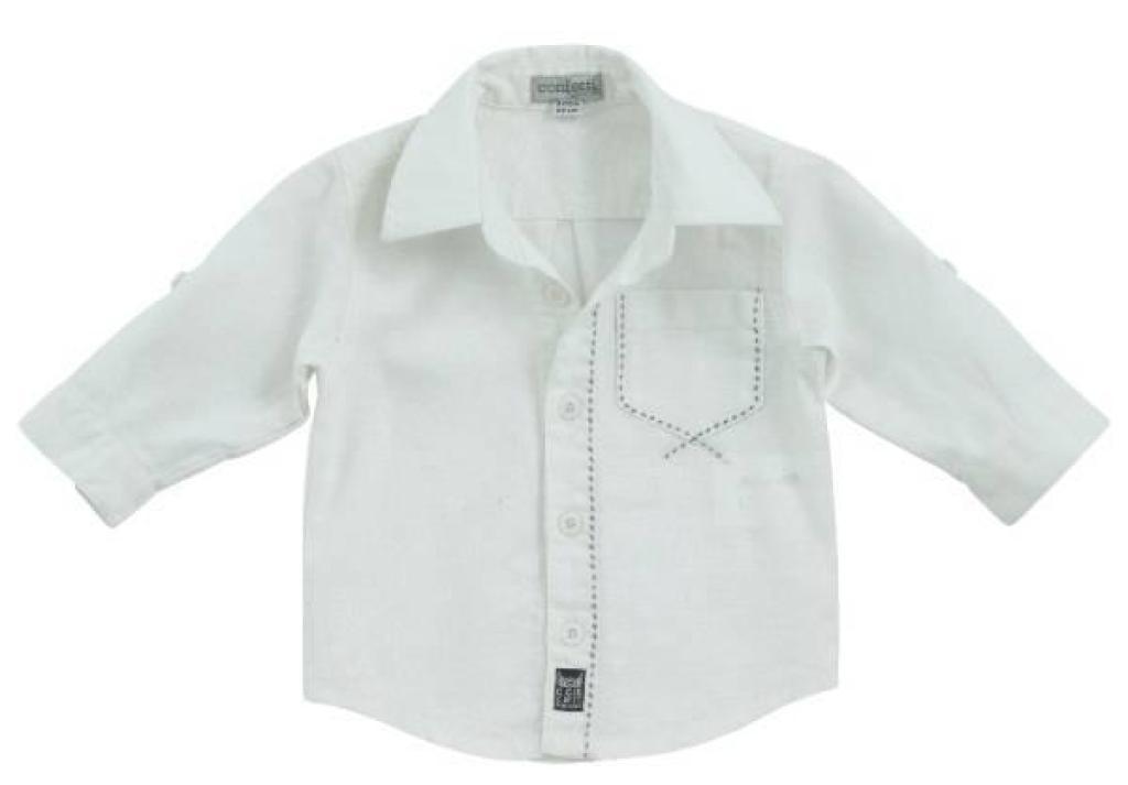 confetti chemise manches longues blanche. Black Bedroom Furniture Sets. Home Design Ideas