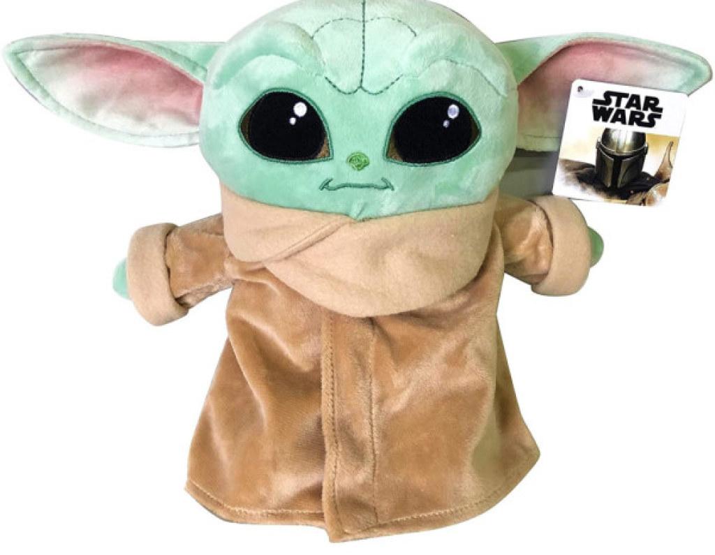 Peluche Mandalorian Grogu bébé Yoda - 25 cm de chez Disney, collection Disney Star Wars