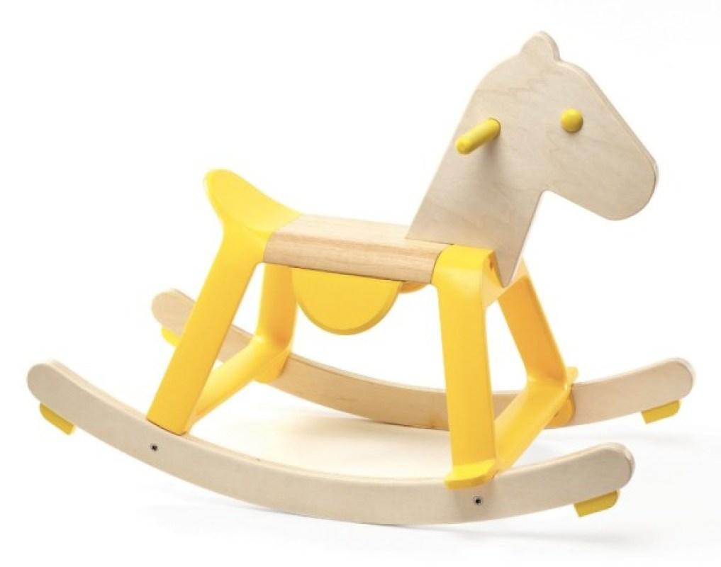 Cheval à Bascule Yellow Rock it de chez Djeco, collection Gros jouets