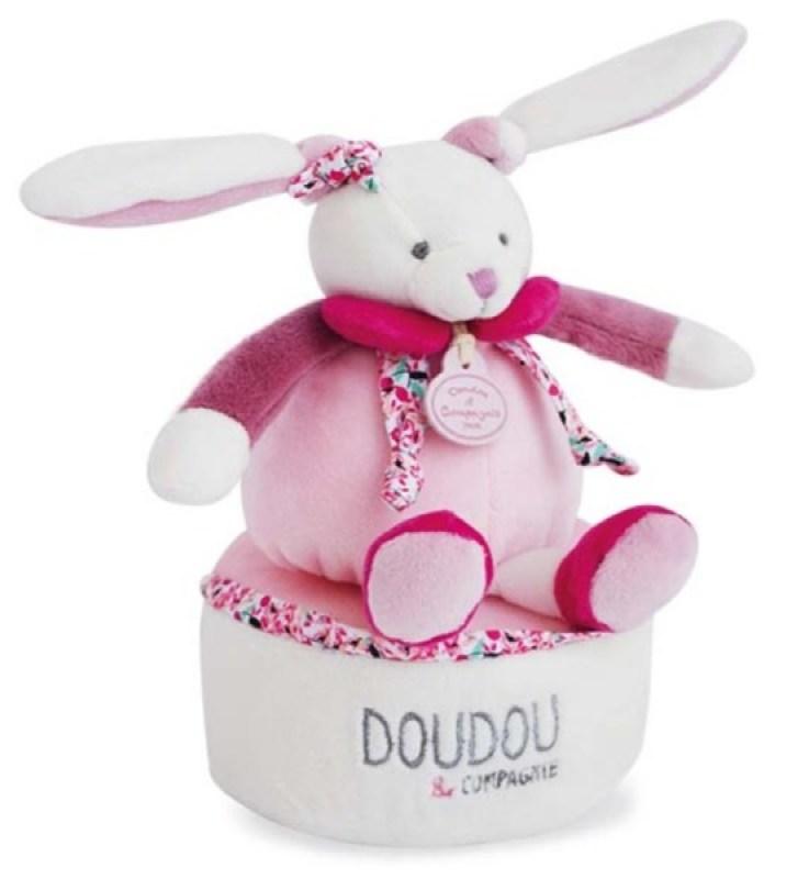 Doudou et Compagnie Cerise Doudou Attache-Sucette Rose