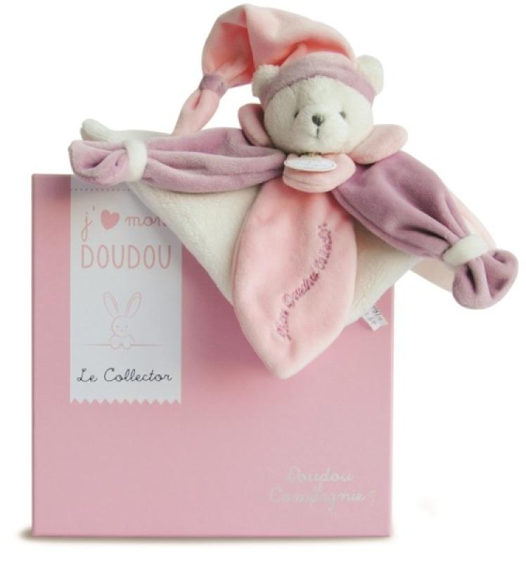 Doudou et Compagnie Doudou Ours Collector Rose - 24 cm