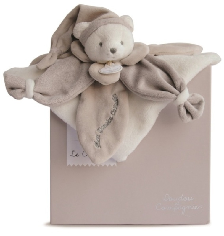 Doudou et Compagnie Doudou Ours Collector Taupe - 24 cm