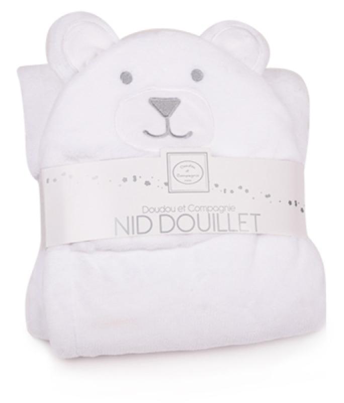 Doudou et Compagnie Nid Douillet Ours Blanc