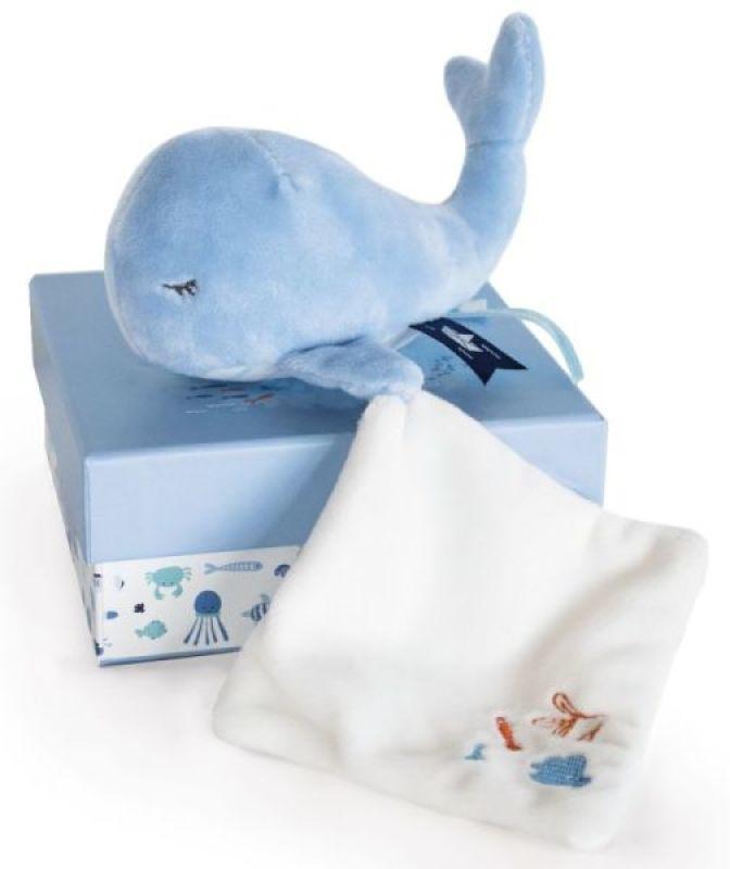 Doudou et Compagnie Peluche Baleine Bleue et Doudou Sous l'Océan