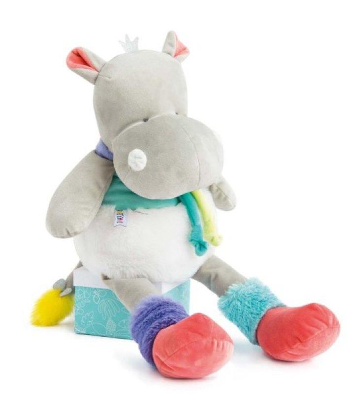 Doudou et Compagnie Peluche Hippo Tropi'Cool XXL - 80 cm