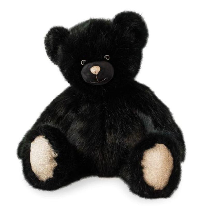 Bouillotte Panda avec housse en peluche 1 l 30 cm Noir//blanc
