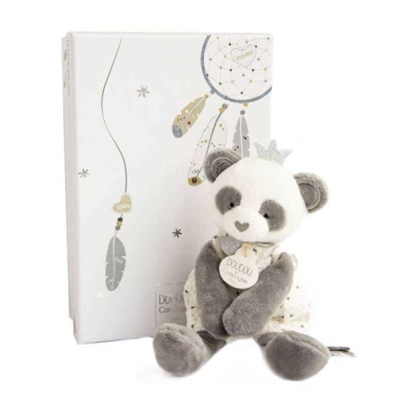 Doudou et Compagnie Peluche Panda Attrape-Reve 20 cm