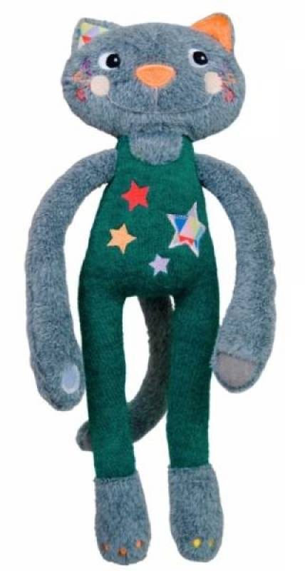 Ebulobo Peluche Chat Elastoc Acrobate Magic Circus - 35 cm