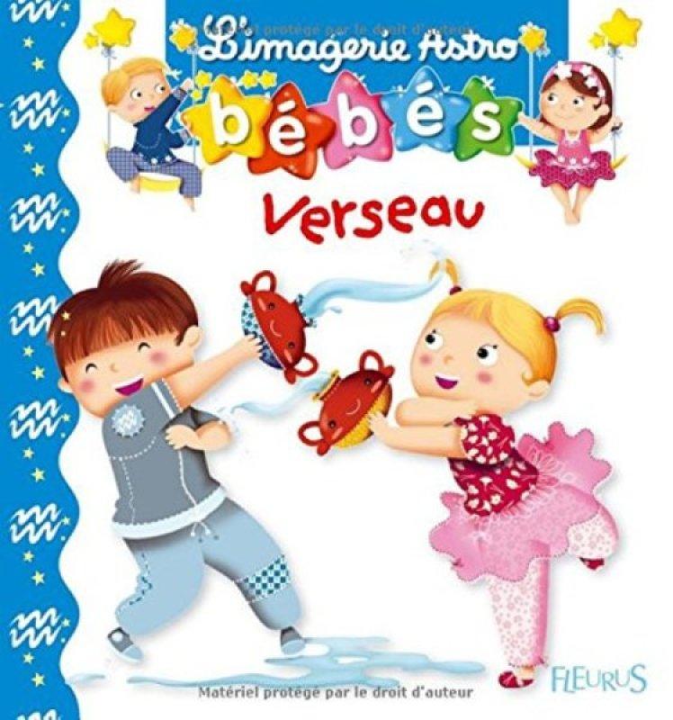 Livre Imagerie Astro Bébés Verseau de chez Fleurus, collection Imagerie des Bébés Astro