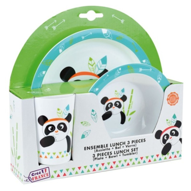 Fun House Coffret Repas Indian Panda