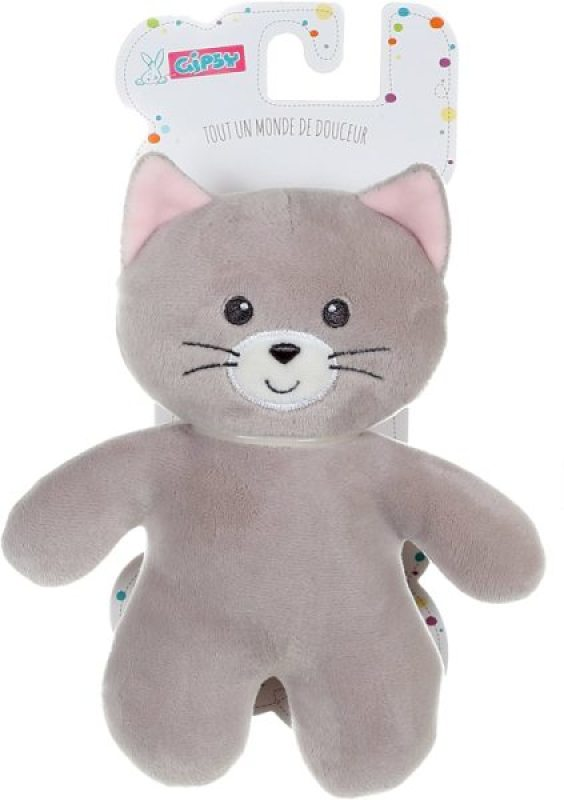Gipsy Peluche Chat Gris PtiDoux - 20 cm
