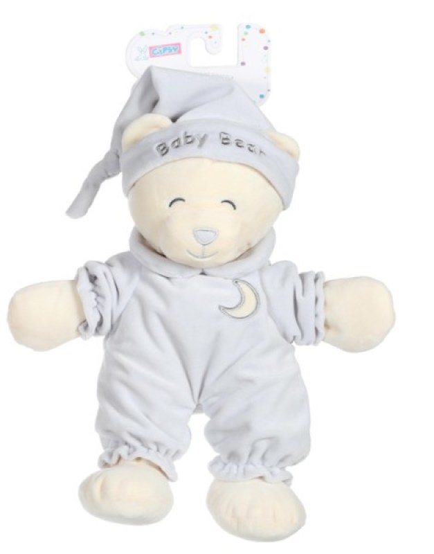 Gipsy Peluche Ours Baby Bear Gris - 30 cm