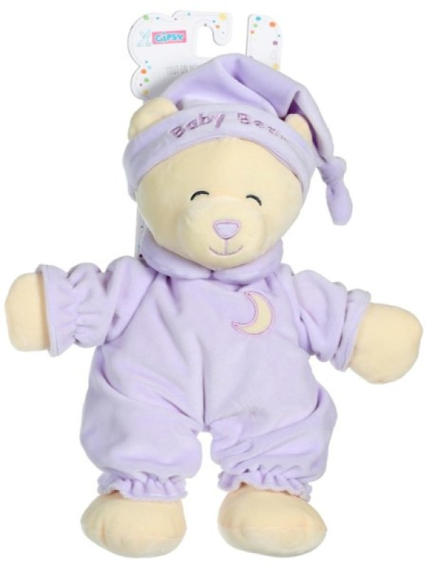 Gipsy Peluche Ours Baby Bear Parme - 30 cm