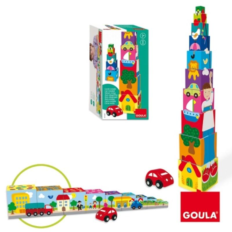 Goula Cubes Empilables Voiture