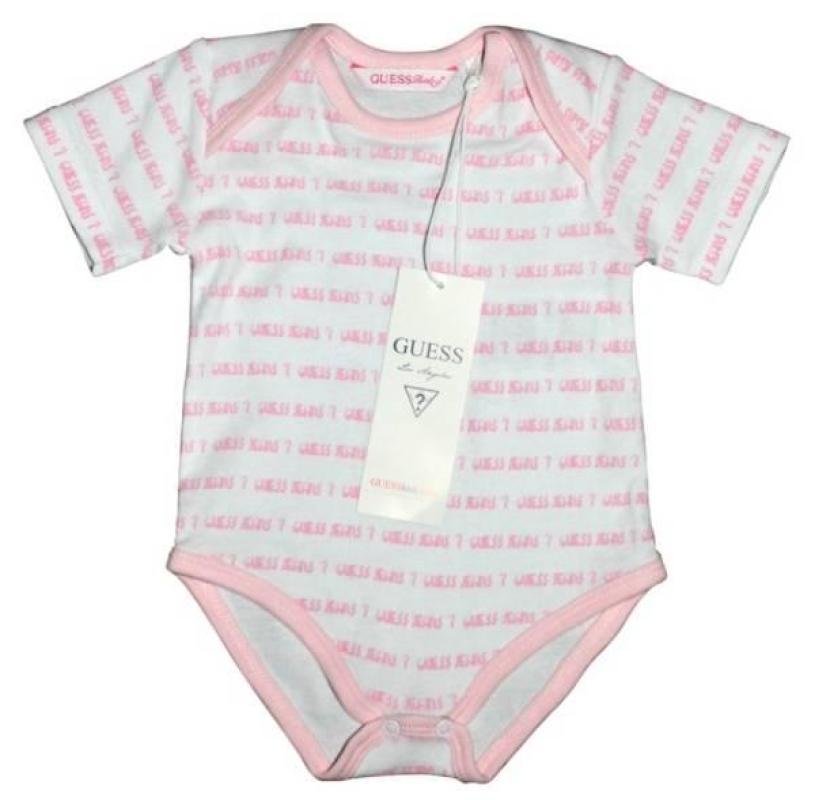 Body Rose et Blanc 12 mois de chez Guess Enfant, collection Baby Jeans Girls