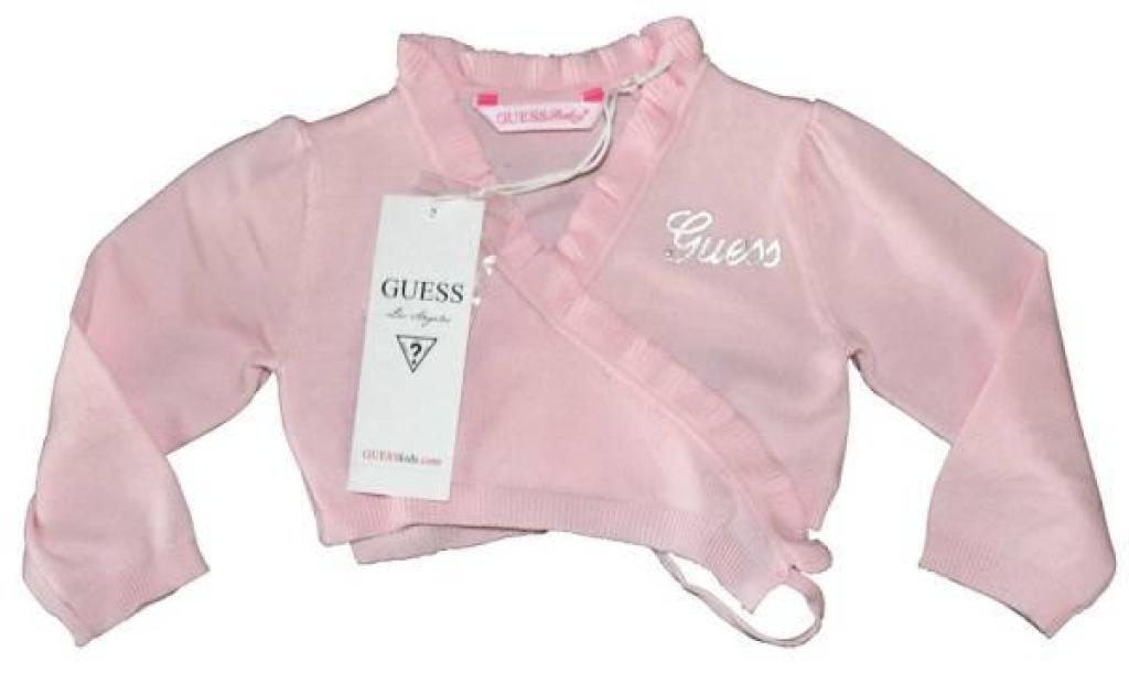Cache Coeur Rose 6/9 mois de chez Guess Enfant, collection Baby Jeans Girls