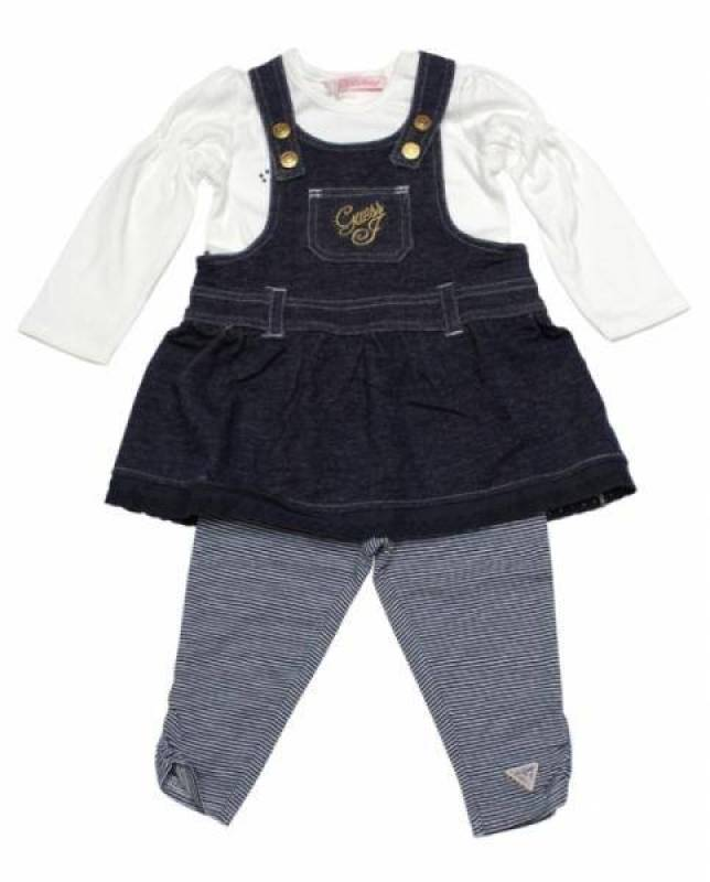 Guess enfant ensemble 3 pi ces salopette fille 6 mois for Plante 6 mois